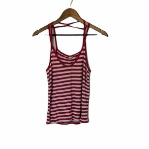 BP soft white and pink striped tank size large